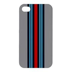 Martini No Logo Gray Apple iPhone 4/4S Premium Hardshell Case