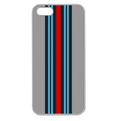 Martini No Logo Gray Apple Seamless iPhone 5 Case (Clear)