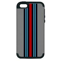Martini No Logo Gray Apple iPhone 5 Hardshell Case (PC+Silicone)
