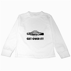 Get Over It White Long Sleeve Kids'' T-shirt