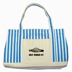 Get Over It Blue Striped Tote Bag