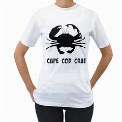 Cape Cod Crab White Womens  T-shirt