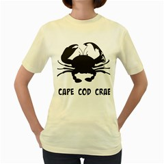 Cape Cod Crab Yellow Womens  T-shirt