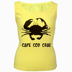 Cape Cod Crab Yellow Womens  Tank Top