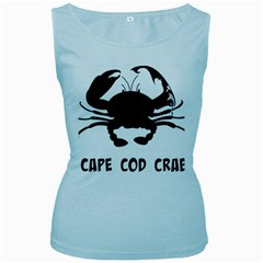 Cape Cod Crab Baby Blue Womens  Tank Top