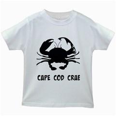 Cape Cod Crab White Kids'' T-shirt