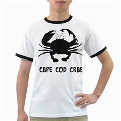 Cape Cod Crab White Ringer Mens'' T Shirt