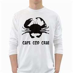 Cape Cod Crab White Long Sleeve Man''s T-shirt