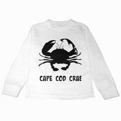 Cape Cod Crab White Long Sleeve Kids'' T-shirt
