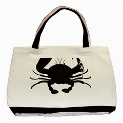 Cape Cod Crab Black Tote Bag