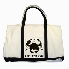 Cape Cod Crab Two Toned Tote Bag