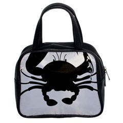 Cape Cod Crab Twin-sided Satched Handbag