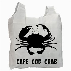 Cape Cod Crab Twin-sided Reusable Shopping Bag