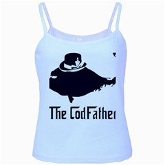 The Codfather Baby Blue Spaghetti Top