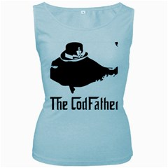 The Codfather Baby Blue Womens  Tank Top