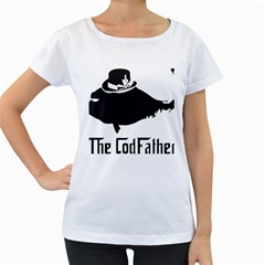 The Codfather White Oversized Womens'' T Shirt