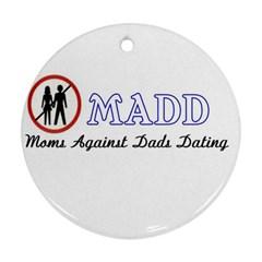 Madd Ceramic Ornament (Round)