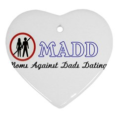 Madd Ceramic Ornament (Heart)