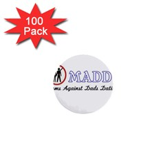 Madd 100 Pack Mini Button (Round)
