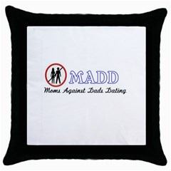 Madd Black Throw Pillow Case