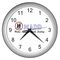 Madd Silver Wall Clock