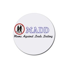 Madd Rubber Drinks Coaster (Round)