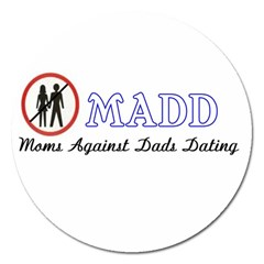 Madd Extra Large Sticker Magnet (Round)