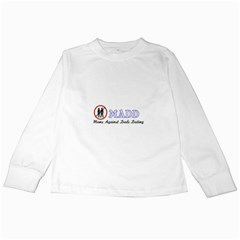 Madd White Long Sleeve Kids'' T-shirt