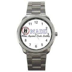 Madd Stainless Steel Sports Watch (round)