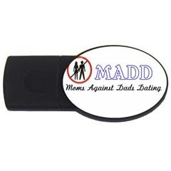 Madd 4Gb USB Flash Drive (Oval)