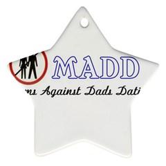Madd Twin Sided Ceramic Ornament (star)