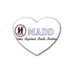 Madd 4 Pack Rubber Drinks Coaster (heart)