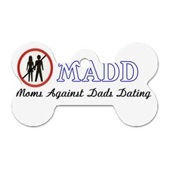 Madd Twin-sided Dog Tag (Bone)