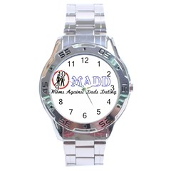 Madd Stainless Steel Analogue Watch (round)