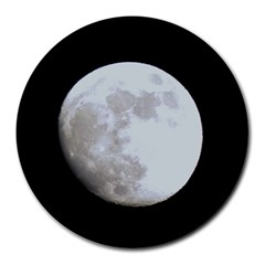 Moon 8  Mouse Pad (Round)