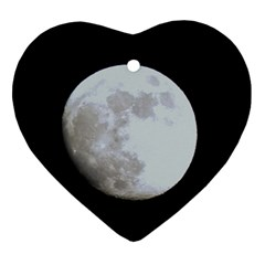 Moon Ceramic Ornament (heart)