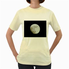 Moon Yellow Womens  T-shirt