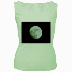 Moon Green Womens  T-shirt