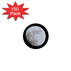 Moon 100 Pack Mini Magnet (Round)
