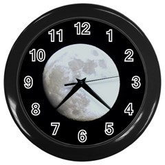 Moon Black Wall Clock