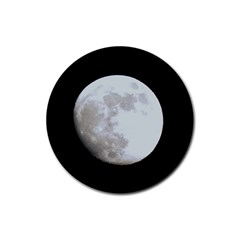 Moon 4 Pack Rubber Drinks Coaster (Round)