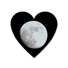 Moon Large Sticker Magnet (heart)