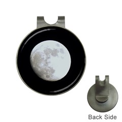 Moon Hat Clip with Golf Ball Marker