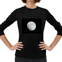 Moon Dark Colored Long Sleeve Womens'' T-shirt