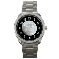 Moon Stainless Steel Sports Watch (round)