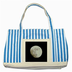 Moon Blue Striped Tote Bag