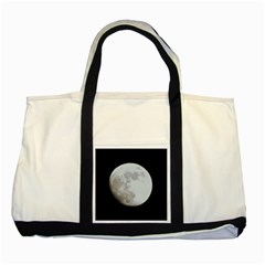 Moon Two Toned Tote Bag