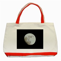 Moon Red Tote Bag