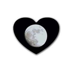 Moon 4 Pack Rubber Drinks Coaster (Heart)
