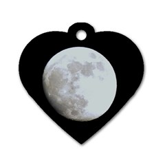 Moon Twin-sided Dog Tag (Heart)